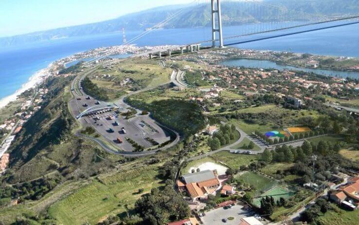 Ponte di Messina lato Calabria